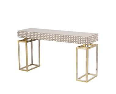 Cowrie Console Table - Concrete Top