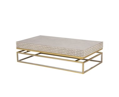 Cowrie Coffee Table - Concrete Top