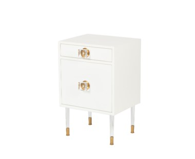 Eloquent Side Table - White Lacquer