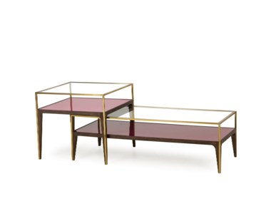 Rubylite Coffee Table - Pink Glass