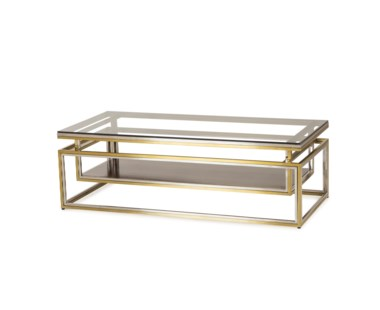 Drop Shelf Coffee Table - Clear Glass