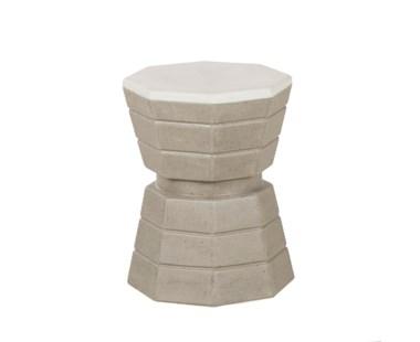 Concrete Barrista Stool - White Top
