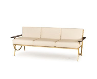 B Sofa - Cream Leather