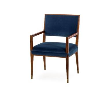 Reform Armchair - Rosewood / Vana Blue Velvet