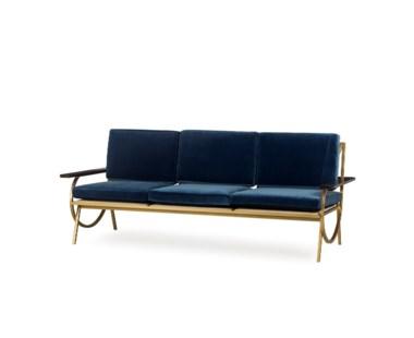B Sofa - Vana Blue Velvet