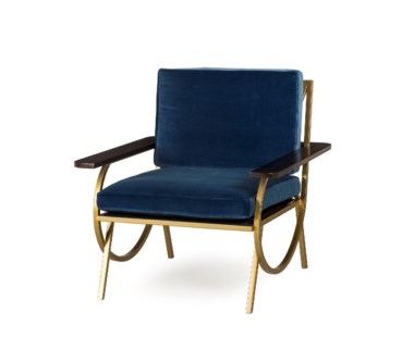 B Chair - Vana Blue Velvet