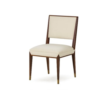 Reform Side Chair - Rosewood / Cream Fabric