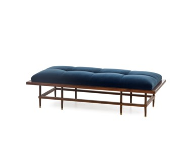 Draper Bench - Vana Blue Velvet (UK)