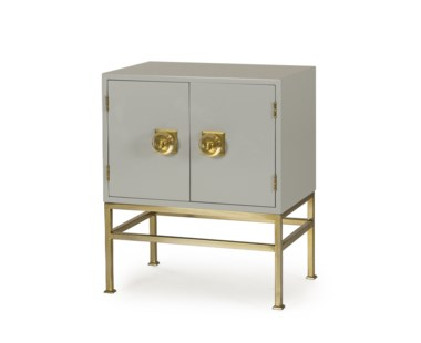 Formal Nightstand - 2 Door / Putty