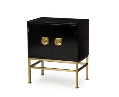 Formal Nightstand- 2 Door / Black