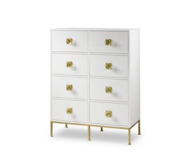 Formal Dresser – 8 Drawer / White Lacquer