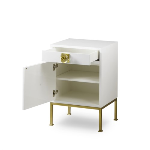 Formal Nightstand White Lacquer Nightstands Resource