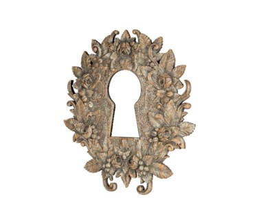 Keyhole Carved Mirror