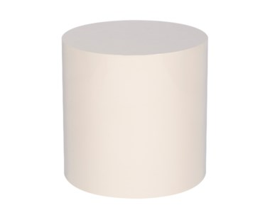 Morgan Accent Table - Round / Snow Lacquer