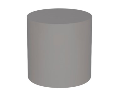 Morgan Accent Table - Round / Grey Lacquer