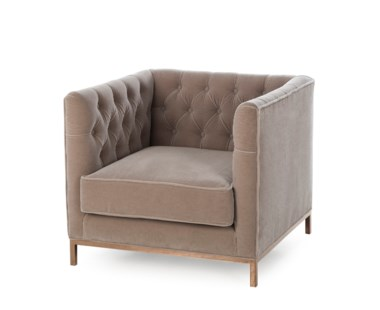Vinci Tufted Occasional Chair - Mohair
