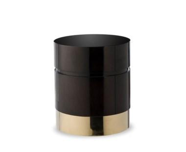 Morrison Ottoman - Round /Black Lacquer