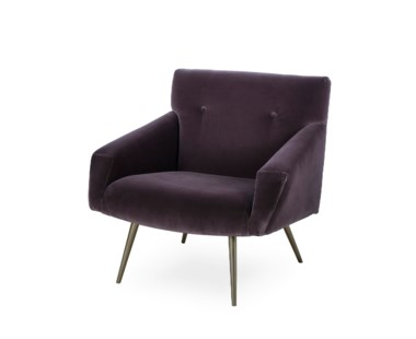 Kelly Chair - Brown Velvet