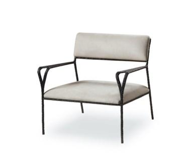 Avalon Black Lounge Chair - Nubuk
