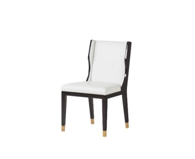 Taylor Dinning Chair - White Leather