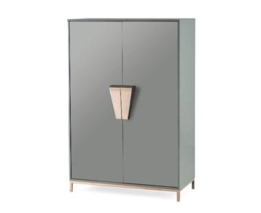 Shield Cabinet - Dark Grey Lacquer