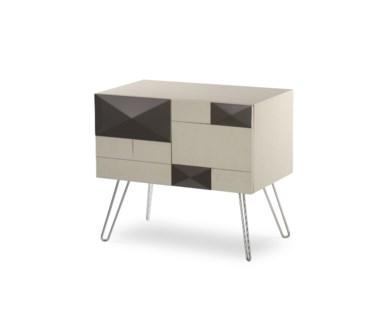 Square Mondrian Bedside Cabinet