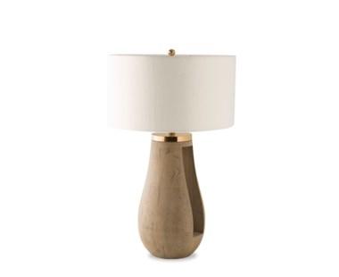 Gray Table Lamp