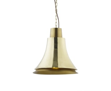 Bell Pendant - Polished Brass