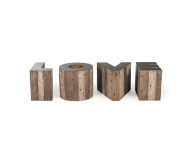 Alphabet Side Table - Letter E