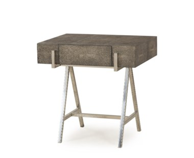 Sampson Side Table- - Charcoal Shagreen