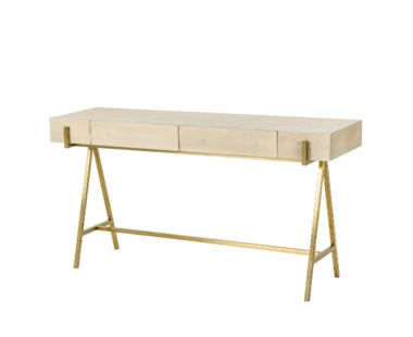 Delilah Console Table - Cream Shagreen