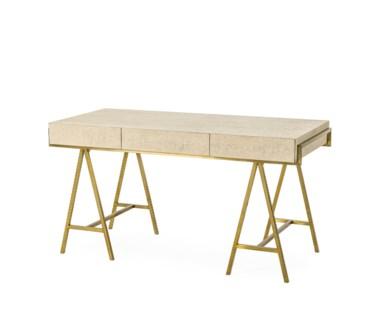 Delilah Desk- Cream Shagreen