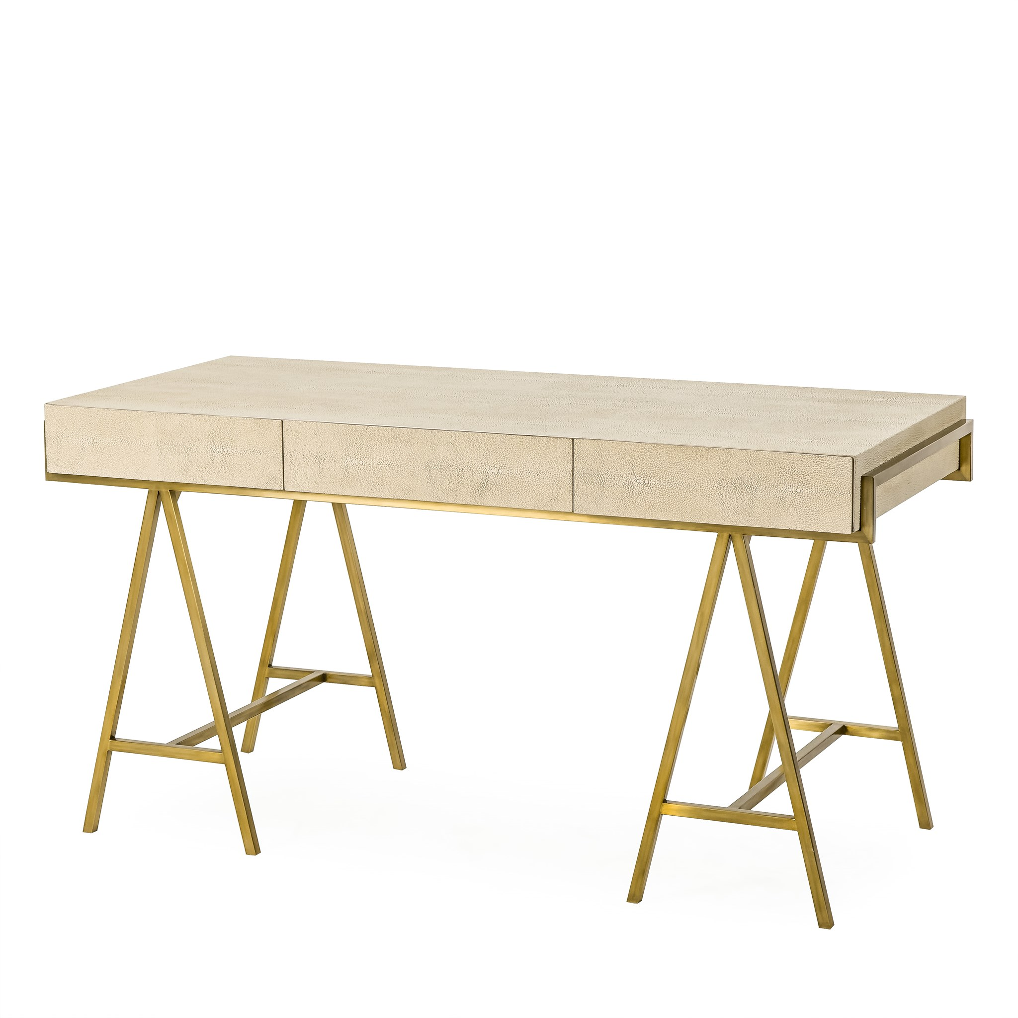 delilah desk cream shagreen