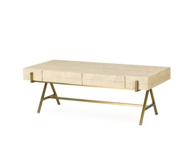 Delilah Coffee Table- Cream Shagreen