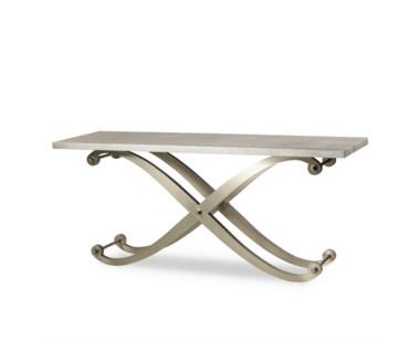 Elizabeth Console Table - Metallic  Shagreen Top