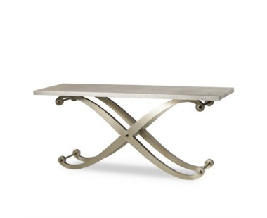 Elizabeth Console Table - Metallic  Shagreen Top