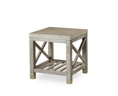 Percival Side Table - Metallic Shagreen