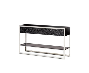 Dexter 2 Drawer Console - Stainelss Steel