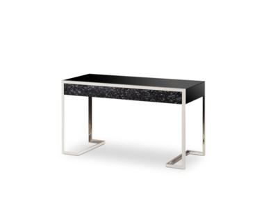 Dexter 2 Drawer Desk - Staineless Steel