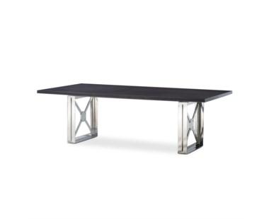 Girder Table - Grey Lacquer Top