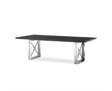 Girder Table - Grey Lacquer Top