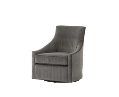 Fraser Swivel Chair - Vienna Graphite Fabric