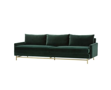Jasper Sofa - Vadit Emerald Green Fabric / Large