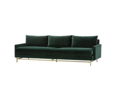 Jasper Sofa - Vadit Emerald Green Fabric / Large