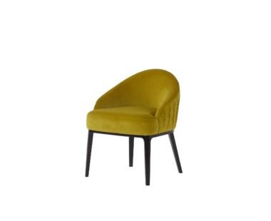Cersie Dining Chair - Vadit Lemon Fabric