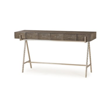 Sampson Console Table - Charcoal Shagreen
