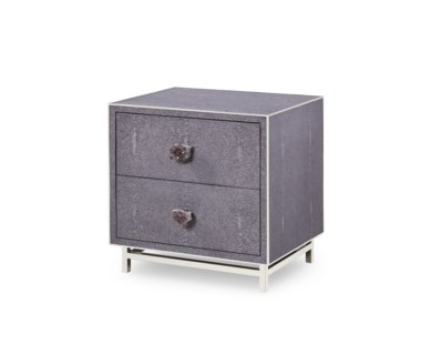 Mansfield 2 Drawer Bedside Chest - Amethyst