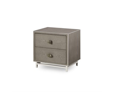 Mansfield 2 Drawer Bedside Chest - Pyrite