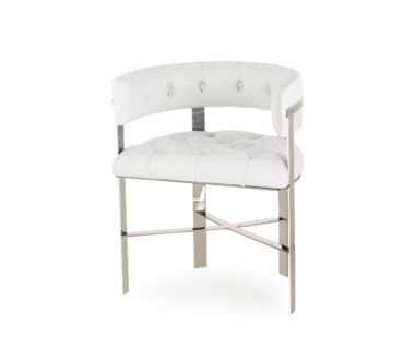 Art Dining Chair - Stainless Steel / Tufted / Grade 1