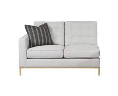 Copeland Loveseat - Left Arm Facing / Metal Base / Grade 1